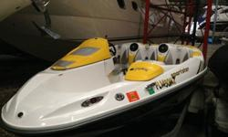 2005 Sea-Doo Sportster 215hp Rotax 4-TEC SCIC. The Sea-Doo Sportster 4-TEC SCIC features an intercooled 215 hp supercharged four-stroke Rotax power pack, and enough adrenaline to bring out the inner child in four passengers. Its power is only rivaled by