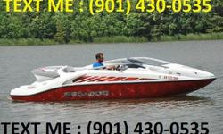 430HP, 105 hours Comes with water skies, wake board, rafts, tow ropes, boat cover, trailer and Air-Dock lift? Track and swivel bucket driver/passenger seats? Driver/passenger console? Full instrumentation dash? Trunk storage? 12 volt jack? Non-slip grab