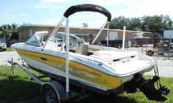 2005 Sea Ray 175 SportBoat is in great condition and ready for the water Factory Upgraded motor to 4.3 v6 Mercruiser with only 500hrsAlpha 1 Gen 2 outdrive Captains bucket seat and Back to back reclining passenger seatswith 2 removable jump seats in the