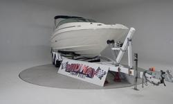 Big 24 footer and in sweet condition!! Room for a big family and all the friends!! This is a deck boat and deck boats are very popular!! Comes with warranty. Ask about FREE delivery!!We have the largest selection of very clean used Boats in the Northwest!