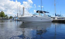 Only 340 hours on this beautifully maintained Sundancer 260This is an excellent opportunity to own a beautiful Sundancer sporting low hours and a nice line of options. New risers & manifolds in November 2014! Full enclosure, swim platform, RayMarine C80