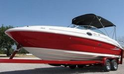 This is a GREAT LOOKING BOAT!! There's just something about the vibrant color... and the sleek lines that just makes you stop and stare! SEA RAY's reputation for building an exceptional product of the highest quality certainly doesn't hurt either! The