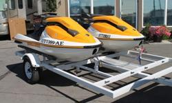 I have a very nice pair of 2005 Seadoo 3D's with only about 50 hours a piece. These are 787cc two stroke very fast, very fun. I bought these machines brand new in 2007 from the dealer. I have used them personally for the last 7 years and have only taken