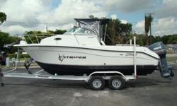 Powered by 2004 Yamaha OX66 Outboard Motor ONLY 92 HOURS! FEATURES LIKE WINDLASS ANCHOR SYSTEM, STEREO, VHF, GPS, FISHFINDER & ENCLOSURES HIS SEA SWIRL 2101 WA IS IN AVERAGE CONDITION. FACTORY BIMINI TOP LOOKS GOOD AND IT COMES WITH ALL ENCLOSURES. ALL