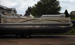 2005 Sweetwater 2386 24 foot pontoon boat, 1 owner 2005, 115 mercury 4 stroke out board, Tandem axel trailer all equipment ready for the water. Runs and rides great lots of room 15 person capacity, Cabana Enclosure for the back. Private seller contact