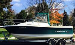 Excellent condition ONE OWNER 2005 22FT TROPHY PRO SERIES FISHING boat,MODEL 2002 (SHOWS PRIDE OF OWNERSHIP) Powered by a (low hours) 2005 MERCURY 150 HP SALTWATER SERIES MOTOR built for heavy duty saltwater applications,has a quick-disconnect engine