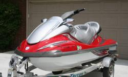 Manufacturer YamahaModel Year 2005Model WaveRunner® FX Cruiser High OutputColor Heat Red Hours 128 DIMENSIONS Length 131.5 in. Height 45.7 in. Width 48.4 in. Weight 772 lbs. ENGINEEngine 4-Stroke, In-line, 4-Cylinder, 20 Valve Horsepower 160 hp @ 10,000