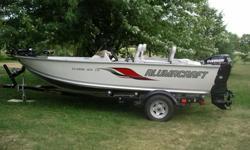 Excellent Condition- 2006 Alumacraft 165 CS 16 foot fishing boat- 2007 50 HP Evinrude E-Tech motor (starts and runs perfectly, extremely fuel efficient) - EZ-Loader Trailer- MINN KOTA trolling motor- Lowrance Fish Finder/GPS- 3 Seats, Bimini (sun