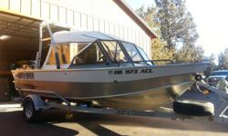 Impeccably cared for, shows like new.90hp 4 stroke Suzuki outbd, transom mount on full swim platform.Cockpit cover with window sides = excellent condition.Dual batteries, hydraulic steering, fish boxes.New in 2014, Bluetooth, satellite, cd stereo w/