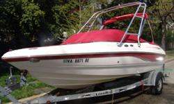 This is a 2006 Chaparral 190 SSi with a new (only 5 hrs) 4.3L Mercruiser V-6 190 hp stern drive in awesome condition, very clean, and well taken care of! Features: Wakeboard tower, bimini top, factory installed swim platform and dive ladder. This model