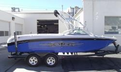 This 2006 Air Nautique 211 Limited is dressed up like a team edition. Loaded with all the core features for a great day/week on the water. Tower, racks, bimini, snap covers, heater, cruise control, ballast and more. All this being pushed across the water