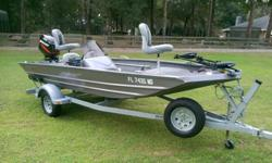 2006 Alumacraft Mv Tex Special Bass Boat It features a 2006 Mercury 50 HP outboard, 2006 Road King galvanized trailer, Minn Kota 40lb thrust trolling motor with a big foot 2 handle, Lowrance X52 fish finder, and all the original owners manuals. Also