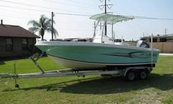 YOU ARE LOOKING AT A VERY NICE 2006 MODEL ANGLER 204 FX ....SHE HAS AN OVERALL LENGTH OF TWENTY FEET FOUR INCHES WITH AN EIGHT FOOT BEAM.... THIS REALLY MAKES A ROOMY DECK.... THE CENTER CONSOLE HAS FULL INSTRUMENTATION....YOU MIGHT HAVE NOTICED THE NEW