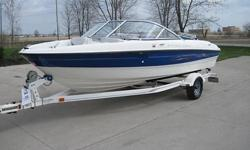 2006 Bayliner 185 bowrider 18 ft with trailer,stereo and Mercruiser 3.0 with Alpha drive. Boat appears to have very low hours. This boat comes from OH and has been used only in FRESHWATER. The hull is in excellent shape with good shine and no scratching.
