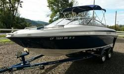 Excellent boat for the whole family at a great offseason price! This Blue Water is just over 21ft. with a huge beam. Powered by a fuel injected 5.0 Volvo V8. L-Shaped seating design with walk through transom. Makes it easy to get in and out of the boat