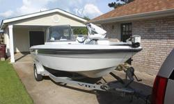 2006 Champion 186 Coastal with a 150 Horsepower Yamaha 4 Stroke. Great Condition. Less than 40 hours of use. Always covered and never left in the water. Original Owner. AM/FM CD Clarion (Sirius satellite ready), with 5 speakers. Ski tow bar. Ladder.