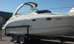 VERY CLEAN Beautiful Boat *Only 66 hours Factory AC Generator Stereo Remote Spotlight TV /DVD player RayMarine CB Radio Front ladder Fridge Microwave Screen door for cabin Windlass Anchor Custom Tanedm Trailer Snap on cover camper enclosure.Stop in to