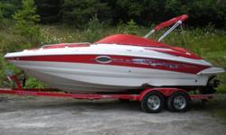 Item specifics - Power & Fishing BoatsType: Deck Use: Fresh waterMake: Crownline Engine type: Single inboard/outboardModel: 220EX Engine make: MercruiserYear: 2006 Engine model: 5.0L MPI Bravo 3Length (feet): 22.5 Primary fuel type: GasBeam (feet): 8.5