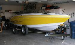 Great blend between a dedicated ski boat and recreational boat?performance and comfort! Professionally maintained and NEVER stored outside or in the water.Awesome boat with many options! Only 53.9 hours!Tech specs at 19.5 ft hull with 8.3 ft beam.5.0
