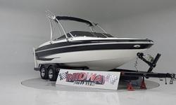 This is the Big Black Beauty!! Low hours and super clean! 5.7 V8 Fuel Injected! Tower and racks! Comes with warranty! Ask about free delivery.We have the largest selection of very clean used Boats in the Northwest! Check our web site before buying your