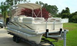 THIS 2006 GODFREY MARINE PONTOON BOAT IS THE SWEETWATER 2180RE MODEL. SHE IS A GREAT LOOKING AND RUNNING FORM OF RELAXATION. GODFREY HAS BEEN BUILDING PONTOON BOATS FOR MANY YEARS AND THIS NE IS IN GREAT SHAPE AND READY TO ENTERTAIN FRIENDS AND FAMILY?.