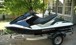 Vehicle has only 38 hours on the clock. These Honda watercraft are the most reliable and fast 2 seaters you can buy. This one is clean without damage or scratches stored in a climate controlled garage also flushed properly after each ride. This is the