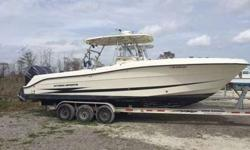2006 Hydrasports 2900 Vector for sale. Recently re powered with Yamaha 300's. Engines have 130 (ish) hours. (Boat is still in use, hours may change a little) Dual Garmin Chartplotters. Radar. Fusion stereo with XM. Electric over hydraulic power steering.