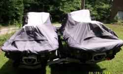 2 KAWASAKI STX 12F JET SKIS AND GALVANIZED DOUBLE TRAILER WITH GOOD TIRES AND SPARE. LIGHTS ON TRAILER ARE NEW AND INSTALLATION WILL COMPLETE UPON SALE. JET SKIS WERE PURCHASED TOGETHER WITH TRAILER. SKIS ARE ONE SERIAL APART. THESE UNITS ARE RATED TO RUN