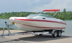 Year: 2006Hull Material: Fiberglass Make: KayotTrailer: Included Model: S 225Use: Fresh Water Type: DeckEngine Type: Single Inboard/Outboard Length (feet): 24Engine Make: Mercruiser Beam (feet): 8.6Engine Model: 350 MAG MPI 300HP Bravo 3 SUPER MINT 2006