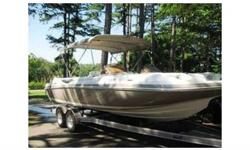 """2006 Kayot V220,Great boat for skiing, cruising and enjoying the lake. Less than 80 hours, Excellent condition, 24'7"""" with swim platform, Capacity - 14 people or 2345 lbs, 5.0L Merc 220 HP I/O, Premium Sony stereo & CD player, Custom cover, Large bimini"""