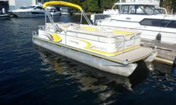 The 2006 Lowe 210 Suncruiser is a great cocktail cruiser for the lake. This pontoon boat is set up with a bimini top, stereo and port-a-potti. The aft area has a pop-up changing room that also allows for useAn enclosed head. The 210 Suncruiser has a