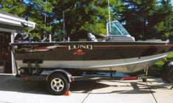 Year:2006.Make:Lund.Model:1800 Sport Angler.Length:18.Engine Model:Mercury - 2.Engine Hours:6-10.Propulsion Type:SINGLEHull Material:ALUMINUM.Fuel Type:GASFuel:41 gal. 2006 Lund 1800 Sport Angler, 18 ft 5 in, 97in beam, custom storage and rod lockers for