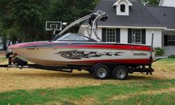 2006 Malibu Wakesetter VLX340 HP Monsoon345 hours, Garage kept and covered. Prop is an OJ 466 and is a MONSTER. (This is what truly made the performance difference on this boat. It would pull up the bottom of the lake if you could attach the boat to it.