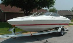 2006 Mariah SX2 21ft open bow boat equipped with a 5.0 liter Chevy V8 motor with Merc Cruiser outdrive and factory matching Prestige trailer. This is a fresh water boat that is in excellent condition. This boat has great colors, great lines, and a lot of