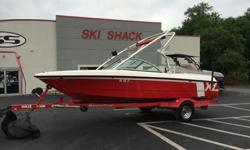 This 2006 Mastercraft X-1 just rolled into our lot. This boat is loaded up and ready to wakeboard! The Indmar 310HP engine has no problem pulling you and all your buddies around the lake. 11 buddies to be exact. This motor only has a low 362 hours on it!