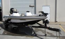 Comfort with the NITRO. This boat delivers an incredibly smooth ride and top-notch fishing peformance in a design that is as rugged as it is roomy. The NITRO NX 591 series are unmatched in their class for value and performance.Send your phone and I will