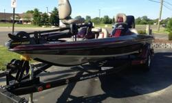 2006 Ranger 188VS bass boat with dual consoles. It comes with a 150HP Mercury Optimax outboard with stainless Mercury prop.This rig has only 79 hours! On-board battery charger replaced last year along with starting battery. The water pump was replaced