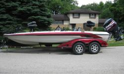 HERE IS A 2006 RANGER COMMANCHE 520 VX TOUR EDITION---20 FT 9 INCHES LONG...IT IS EQUIPPED WITH A 2006 EVINRUDE ETEC 225 ..THE MODEL NUMBER IS E225DHLSDF...THIS MOTOR WAS JUST REBUILT WITH A BRAND NEW POWER HEAD---0 HOURS ON IT!! INSTALLED POWERHEAD,