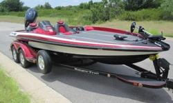 Powered by a Yamaha 250 Vmax HPDI outboard engine, with a stainless steel prop!! Motor has power Jack Plate and power Trim. This is a very, very nice boat! This gorgeous boat has a dual axle trailer with fiberglass fenders with good tires and a spare