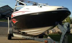 text me to with email and question text me now at (205) 747-34782006 Sea Doo Speedster Wake with 2-215HP jet engines and 2006 Sea Doo Karavan Trailer. Boat is in excellent condition with only 55 hours. This boat will do 65mph with a full load and is a