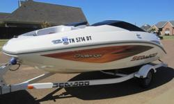 About this 2006 Sea Doo Challenger 180 Jet BoatNice 18ft Sea Doo jetboat. This is powered by a single 215HP supercharged Sea Doo Rotax 4-stroke motor. Less than 60 hours on the boat. Boat has cover, bimini top, and includes trailer with new tires. Great