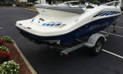 Boat is Powered by twin 155 horsepower Rotax 4-Tec Jets (310 horsepower) Low hours! 100% ready, 100% clean interior - EXCELLENT CONDITION MECHANICALLY 100%!!Large Integrated Swim Platform w/ Ladder, Sun Deck , Under-Deck Storage, Ski Locker, Pop-Up Ski