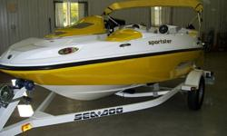 You are looking at a beautiful 2006 SeaDoo 15ft Sportster finished in Awesome Yellow which shines like new.2006 was the first year it came with a Rotax four-stroke 4 TEC jet driven engine package with the new features of Closed-Loop Cooling, D-Sea-Bel?