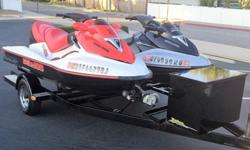2006 Seadoo GTX Limited with GPS & 2006 Seadoo Wake Edition on a 2006 Zieman Double Trailer!!!The 2006 Seadoo GTX Limited with GPS has 70 hours. It is in excellent condition, has a new battery and was recently serviced. The supercharger was also updated