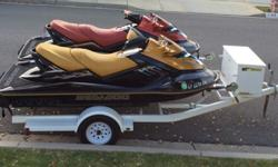 2- 2006 supercharged Seadoo?s, with only 46 hours each. They have 215hp and a top speed 75mph. They have been well maintained and stored in my garage year around. I have 2 new covers for towing and storage. You can ride up to 4 people per ski. They have