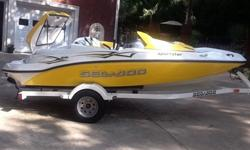 2006 Seadoo Sportster with only 5 hrs use . Previous owner was deployed most of the boats life and boat was kept in covered storage .Boat is in new and prestine condition with 2 blemishes one is a small tear in front seat the other is a 3 inch rubber trim
