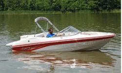 Year: 2006Trailer: Included Make: StarcraftUse: Fresh Water Model: 1700 Q StarEngine Type: Single Inboard/Outboard Type: BowriderEngine Make: Volvo Engine Length (feet): 19Engine Model: 4.3GL 190HP SX Beam (feet): 8.6Primary Fuel Type: Gas Hull Material:
