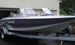 2006 STRATOS 486 FS.150 YAMAHA V-MAX WITH STAINLESS PROP.MATCHING SINGLE AXLE TRAILER.Great combo boat for the family. Equipped for Fish and Ski - something for everyone!Seats 5. Has 2 extra removable cushions up front. Fishing platforms up front and in