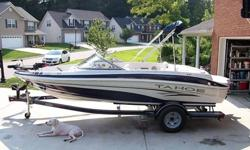 2006 Tahoe Q4 4.3L V6. Garage kept and freshwater use only. Recent fluid changes and tune up. Some minor scratches on side from docking and one small tear in rear seat (pictures included). Has factory cover and bimini top. AM/FM radio w/CD player, depth