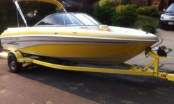2006 Tahoe Q6250 hours. It has been professionally winterized and de-wintered every year and has been garaged every winter.There is an oversized integrated swim platform with boarding ladder.Boat is equipped with removable hand controlled Motorguide